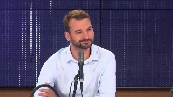 """Ugo Bernalicis, député La France insoumise du Nord, était l'invité du """"8h30 franceinfo"""", mardi 11 août 2020."""