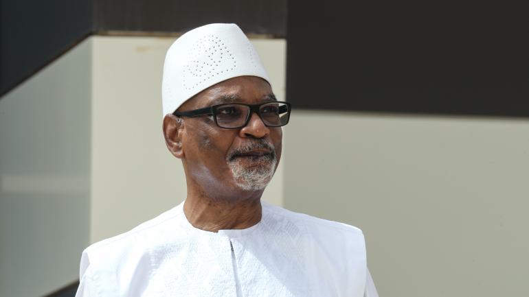Le président malien, Ibrahim Boubacar Keïta, durant le sommet du G5 Sahel, le 30 juin 2020 àNouakchott, enMauritanie.