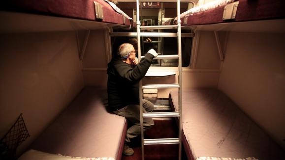 Parme les priorités du plan de relance : les trains de nuit. Ici, des couchettes dans un train effectuant la ligne Nice - Paris.
