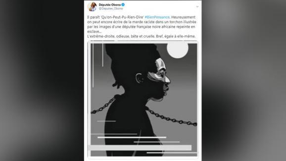 Tweet de Danièle Obono, le 28 août 2020.