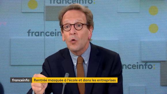 Gilles Le Gendre, le présidentdu groupe LREM à l'Assemblée nationale, invité de franceinfo le lundi 31 août.