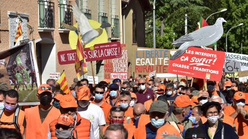 Plus de 40 000 défenseurs de la chasse traditionnelle se sont retrouvés pour manifester dans différentes villes de France, samedi 18 septembre. Ces manifestants suscitent beaucoup d'attention dans les groupes politiques à quelques mois de l'élection présidentielle.