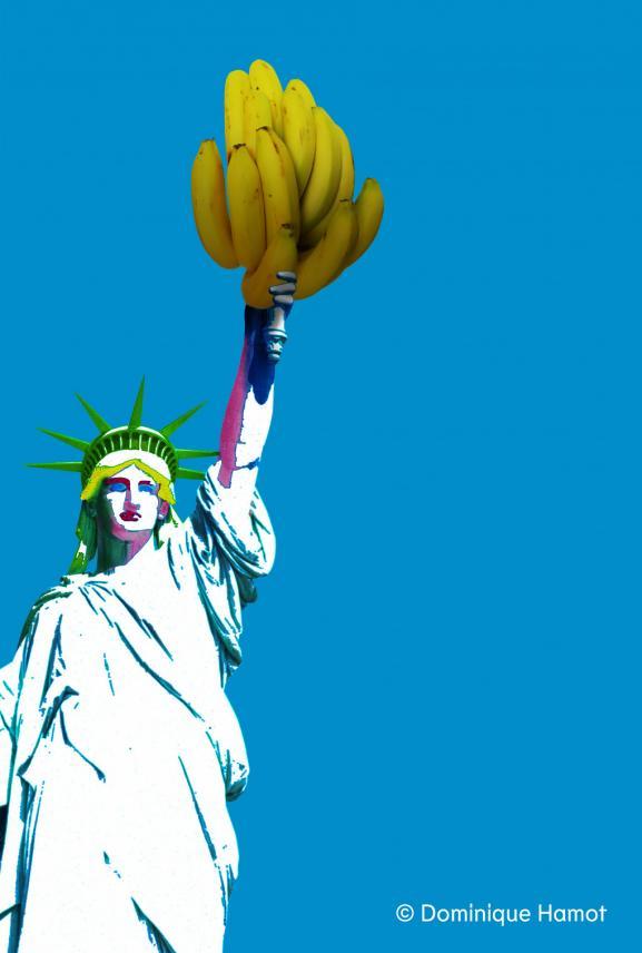 """L\'affiche de \""""Bananas (and Kings)\"""" de Julie Timmerman au théâtre de la Reine blanche, à Paris, du 9 septembre au 31 octobre."""