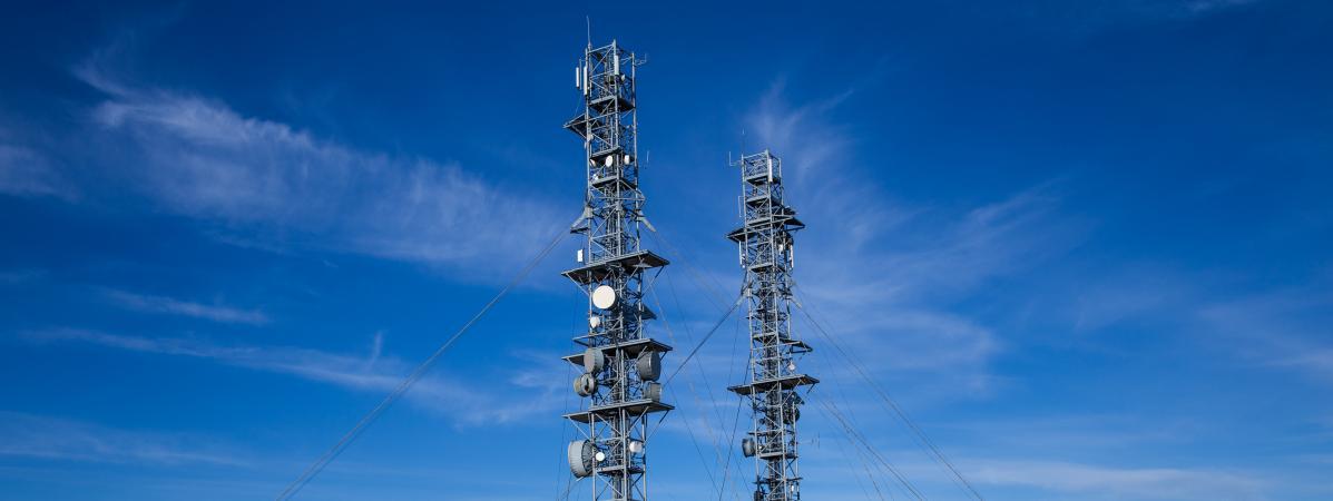 Des antennes-relais au sommet du mont Aigoual, dans le Massif central, le 13 septembre 2019.