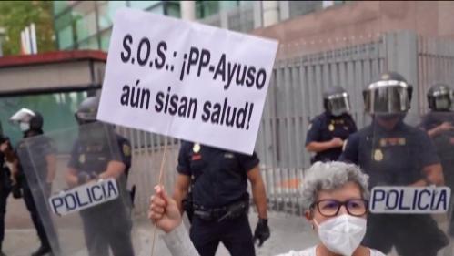 Espagne : manifestations contre un nouveau confinement à Madrid