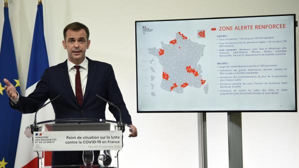 D'après la carte de l'épidémie établie par le gouvernement, 69 départements sont en alerte.Quels sont les critères pour ces zones ?Sandrine Aramon est sur le plateau de France 3.