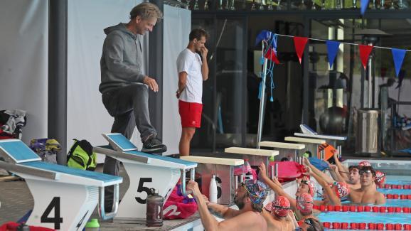 Licencié à Mulhouse jusqu'en 2012 l'ancien champion olympique Amaury Leveaux y est revenu cette saison.
