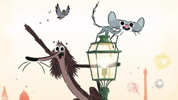 """""""Rotten dog, life in Paris """", animated film by & nbsp;  D. Durand, V. Patar, S. Aubier"""