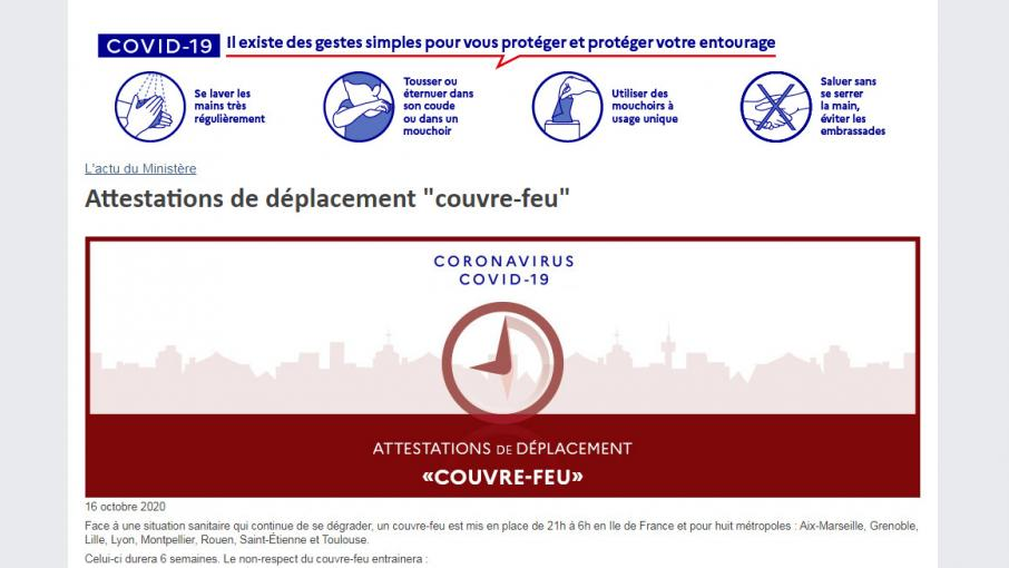 Couvre Feu L Attestation De Deplacement Derogatoire Mode D Emploi
