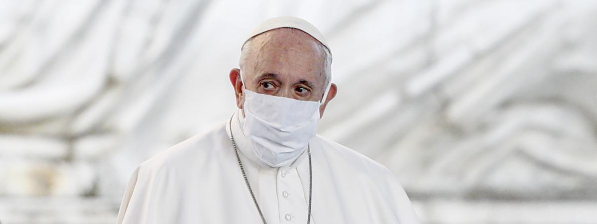 Le pape François, sur la colline du Capitole, à Rome, en Italie, le 20 octobre 2020.