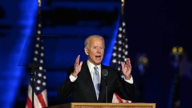 Joe Biden, le 7 novembre 2020 à Wilmington (Delaware).