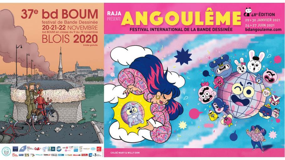 BD, bande dessinée. Festivals sans festivités
