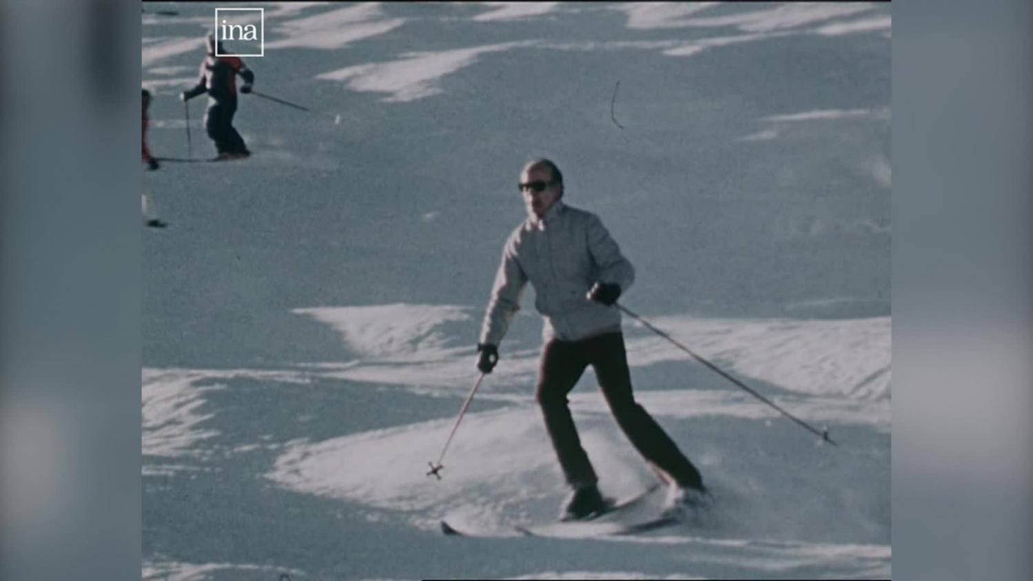 Quand Valéry Giscard d'Estaing invitait les journalistes à Courchevel pour ses vacances au ski