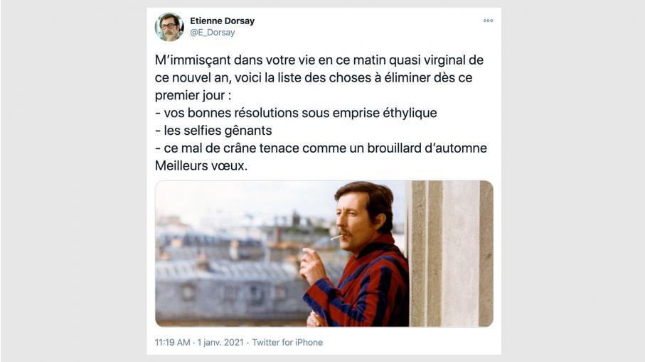 Etienne Dorsay, personnage joué par par Jean Rochefort, survit sur Twitter
