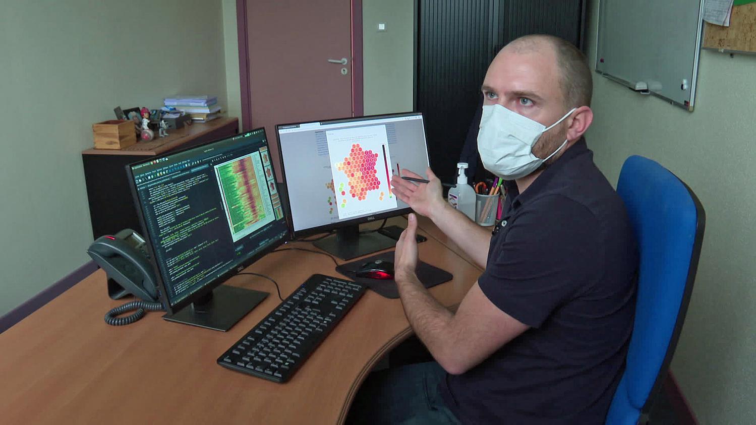 Les graphiques sur le Covid de cet informaticien de Mulhouse deviennent des références