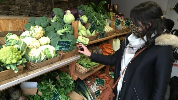 Buy organic and local in a nearby farm