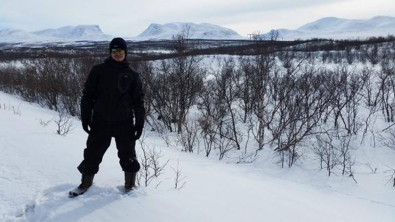 In Abisko, in the far north of Sweden.  The municipality is located on the shore of Lake Torneträsk and on the railway line built at the beginning of the 20th century to evacuate the ore to the sea