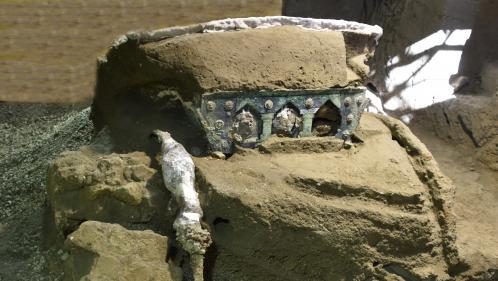 Image de couverture - Italie : un grand char de cérémonie datant de l'époque romaine a été découvert près du site archéologique de Pompéi
