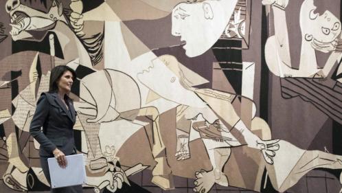 """Image de couverture - Emotion au plus haut niveau de l'Onu après la reprise par Rockefeller d'une tapisserie de """"Guernica"""""""