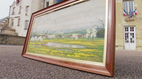 Image de couverture - Trouvée dans une déchetterie de la Nièvre, une œuvre du peintre Rex Barrat sauvée in extremis