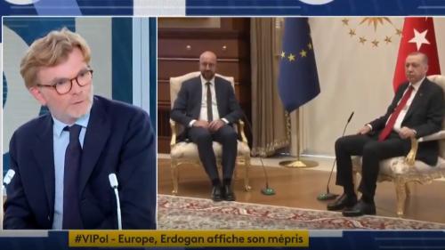 """Affront infligé à Ursula von der Leyen : """"Le président Erdogan est coutumier de petits actes comme cela, qui visent à humilier telle ou tel"""", réagit Marc Fesneau"""