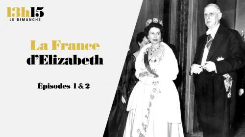 """Cette série en quatre épisodes du magazine """"13h15le dimanche"""" raconte la reine ElizabethII et sa passion française. En soixante-neuf ans de règne, elle a connu dix présidents de la République, de Vincent Auriol à Emmanuel Macron… Quelle relation la reine d'Angleterre, qui a perdu son époux le prince Philip le 9avril 2021, a-t-elle entretenu avec chacun d'entre eux?"""
