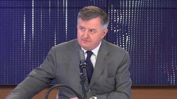 """Augustin de Romanet, le PDG du groupe ADP était l'invité du """"8h30franceinfo"""", mardi 4 mai 2021."""