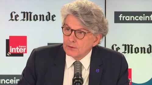 VIDEO. AstraZeneca : la Commission européenne a décidé de ne pas renouveler, pour le moment, sa commande de vaccins après le mois de juin, annonce Thierry Breton