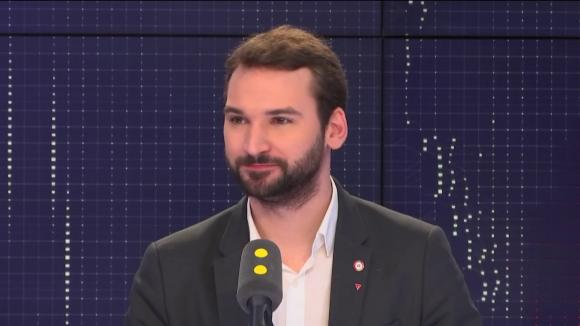 Ugo Bernalicis, député La France insoumise du Nord, lorsqu'il était invité de franceinfo en janvier 2019.