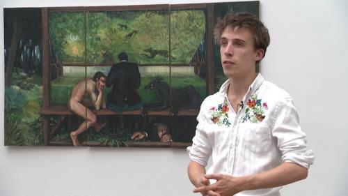 Image de couverture - L'homme face à une nature inquiétante, l'univers onirique du jeune artiste Adrian Geller