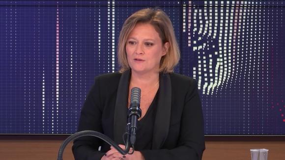 """Olivia Grégoire, secrétaire d'État chargée de l'Économie sociale, solidaire et responsableétait l'invitée du """"8h30 franceinfo"""", vendredi 14 mai 2021."""