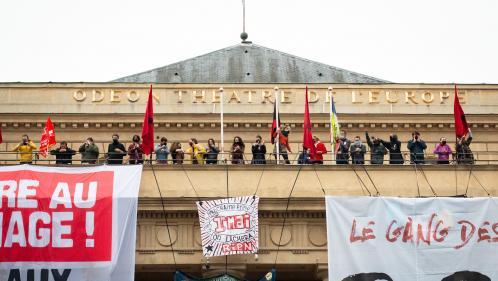 Image de couverture - Au Théâtre de l'Odéon occupé, les intermittents du spectacle déterminés à poursuivre la lutte