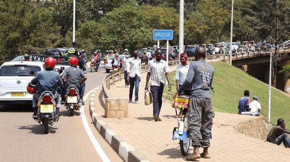 Une vue de Kigali, la capitale rwandaise, à la veille de la visite d'Emmanuel Macron, le 26 mai 2021
