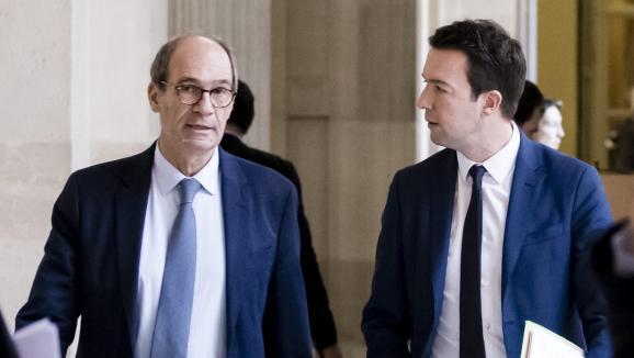 Eric Woerth et Guillaume Peltier le 13 février 2017 à l'Assemblée nationale. Illustration.