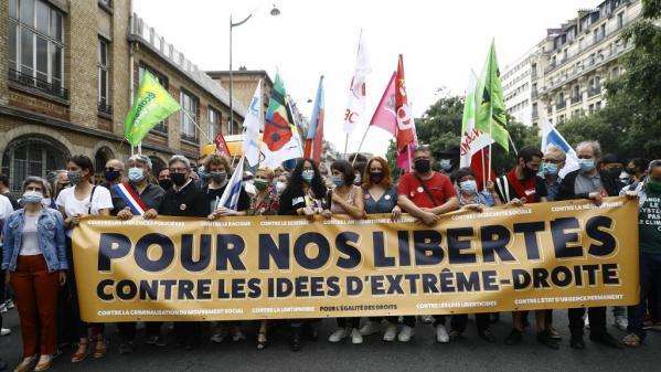 """Selon le député LFI, l'enjeu de ces marches étaient de montrer la mobilisation du """"camp de la liberté, de la lutte contre l'extrême-droite""""."""