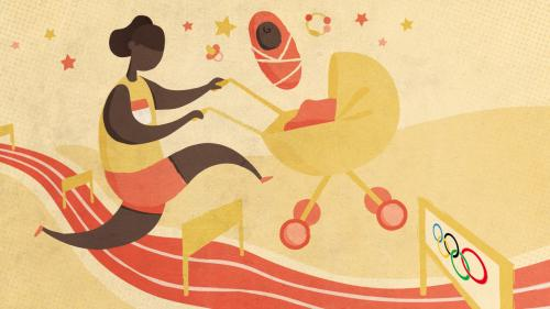"""Image de couverture - ENQUETE FRANCEINFO. Aux Jeux olympiques, les mamans athlètes défient aussi les préjugés : """"Je suis plus forte qu'avant"""""""