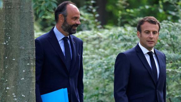 Édouard Philippe (G) et Emmanuel Macron (D), le 29 juin 2020.