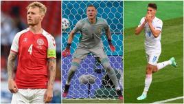 Image de couverture - Euro 2021 : Kjaer héroïque, Schick génial, Olsen infranchissable... Les cinq joueurs qui ont marqué la première journée des matchs de poules