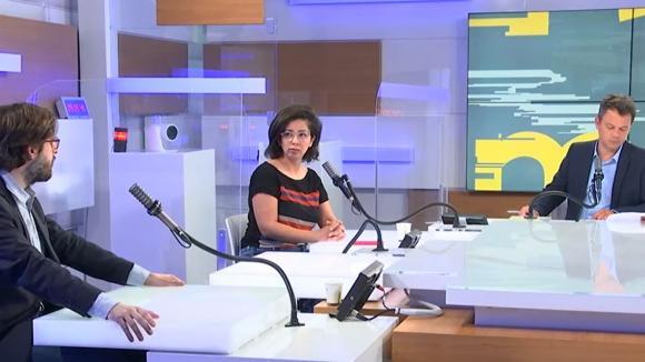 Etienne Girard et Neila Latrous sur le plateau des Informés du matin du 18 juin 2021.