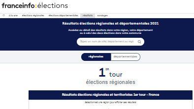 Elections régionales et départementales : comment ont voté votre commune, votre département, votre région ? Retrouvez tous les résultats dans notre moteur de recherche