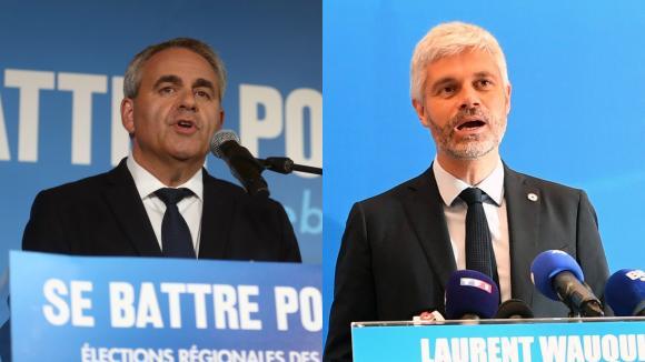 Xavier Bertrand et Laurent Wauquiez le 20 juin 2021.