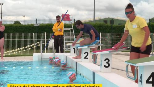 À Quinçay et à Neuville-de-Poitou, dans la Vienne, les élèves de grande section passent la semaine à la piscine. Le but ? Prévenir les risques de noyade en développant dès le plus jeune âge l'aisance aquatique. #IlsOntLaSolution
