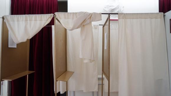 Un bureau de vote au Pré-Saint- Gervais le 20 juin 2021 pour le premier tour des élections régionales et départementales. (Illustration)