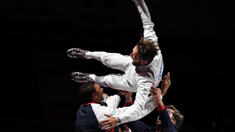Image de couverture - JO Tokyo 2021 : première médaille d'or pour la France, grâce à l'escrimeur Romain Cannone à l'épée
