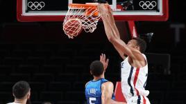 Image de couverture - DIRECT. JO 2021 - Basket masculin : les Etats-Unis repassent devant, les Français s'accrochent dans le quatrième quart-temps