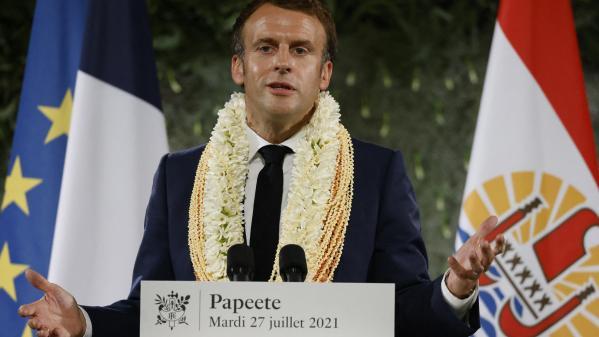 """""""Trop longtemps l'Etat a préféré garder le silence sur ce passé"""", a ajouté le président de la Républiquedepuis Papeete, mardi soir."""