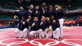 VIDEO. JO 2021 – Judo : Agbégnénou lance les Bleus, Riner assure, Léonie-Cysique les délivre… la folle journée des Français en finale par équipes mixtes