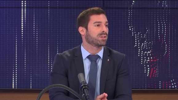 Julien Odoul, porte-parole du Rassemblement national, sur franceinfo le mardi 3 août 2021.