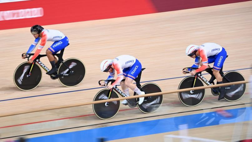 Image de couverture - JO 2021 - Cyclisme sur piste : les Français en bronze sur la vitesse par équipes