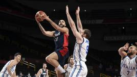 Image de couverture - DIRECT. JO 2021 - Basket masculin : les Bleus au coude à coude avec l'Italie